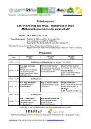 Programm für den 25 - Regionales Fachdidaktikzentrum Mathematik ...