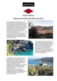 Wanderwoche Cinque Terre (20.03.-26.03.2011) - Bezirk Kinzigtal