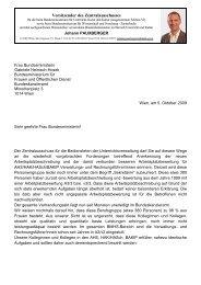 Brief an BM Heinisch-Hosek - zaverwaltung.at