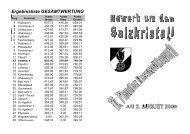 Ergebnisliste GESAMTWERTUNG - FF-Aichkirchen