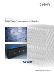 stormwater management products - GEA 2H Water Technologies