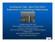 New York City's Experience in Controlling Tuberculosis