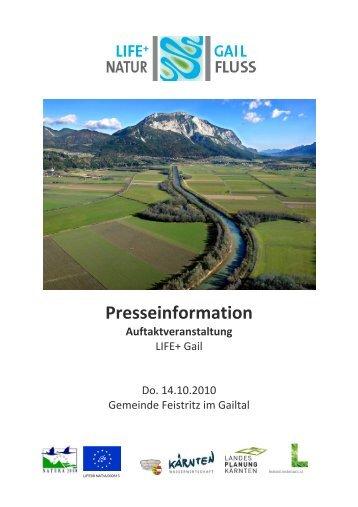 Presseinformation Auftaktveranstaltung - LIFE Lebensader Obere ...