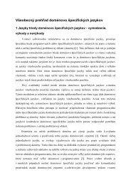 Všeobecný prehľad doménovo špecifických jazykov - Hornad