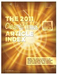 2011 Article Index - Cleaner Times
