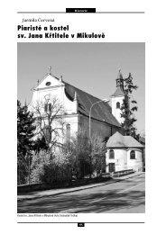 Piaristé a kostel sv. Jana Křtitele v Mikulově - Regionální muzeum ...