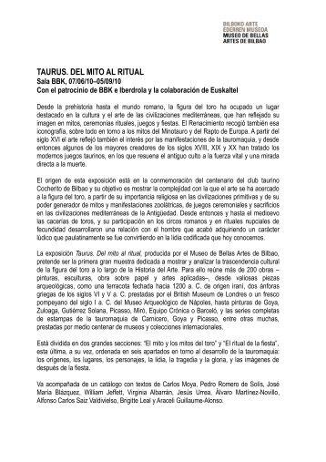 Dossier Taurus - Museo de Bellas Artes de Bilbao