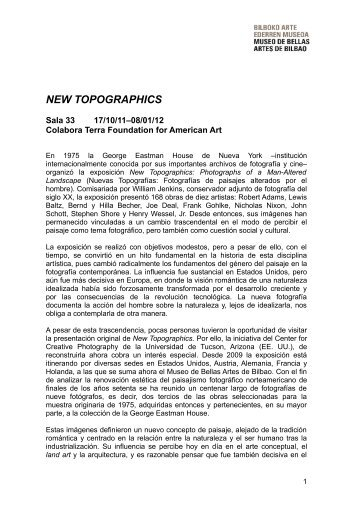 Dossier New Topographics - Museo de Bellas Artes de Bilbao