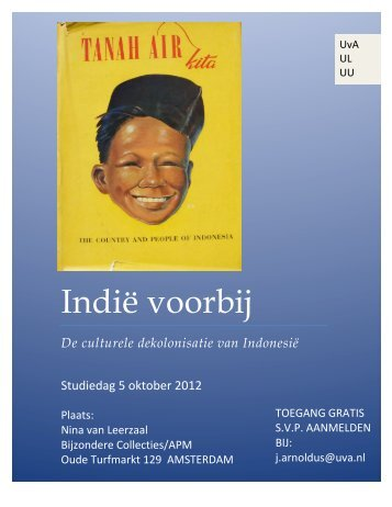 Uitnodiging symposium Indië voorbij - Huizinga Instituut