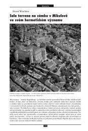 Sala terrena na zámku v Mikulově ve svém hermetickém významu