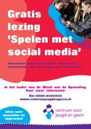 Gratis lezing 'Spelen met social media' - Esdal College