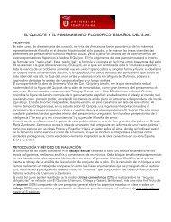 el quijote y el pensamiento filosófico español del ... - API Study Abroad