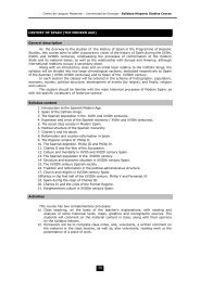 HISTORY OF SPAIN (THE MODERN AGE ... - API Study Abroad