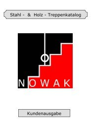 Stahl - & Holz - Treppenkatalog Kundenausgabe - Nowak Treppen