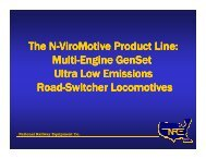 The N-ViroMotive Product Line - Faster Freight - Cleaner Air