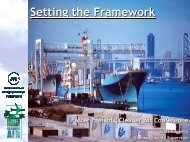 Setting the Framework - Faster Freight - Cleaner Air