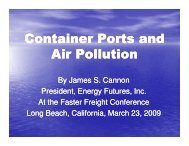 Container Ports and Air Pollution - Faster Freight - Cleaner Air
