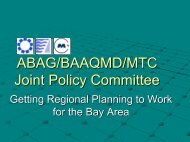 ABAG/MTC Joint Policy Committee - Faster Freight - Cleaner Air