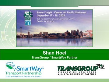 Shan Hoel - Faster Freight - Cleaner Air