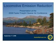 Locomotive Emission Reduction - Faster Freight - Cleaner Air