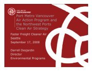 Port Metro Vancouver Air Action Program and the Northwest Ports ...