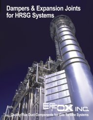 Dampers & Expansion Joints for HRSG Systems - Effox-Flextor