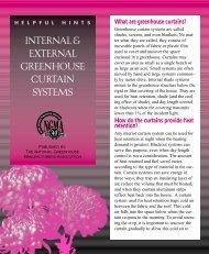 INTERNAL & EXTERNAL GREENHOUSE CURTAIN SYSTEMS