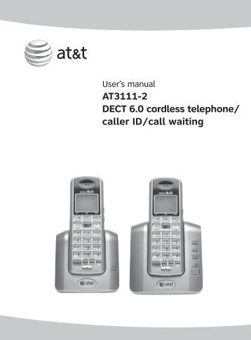 AT3111-2 DECT 6.0 cordless telephone/ caller Id/call waiting