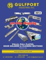 PULLS, PULL PLATES, DOOR HOLDERS & CLOSERS SECTIONS