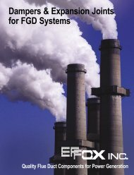Dampers & Expansion Joints for FGD Systems - Effox-Flextor