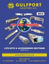 LITE KITS & ACCESSORIES SECTIONS - Gulfport Industries Inc.