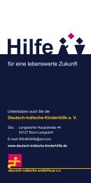 Flyer Stolberg (PDF) - Deutsch-Indische Kinderhilfe
