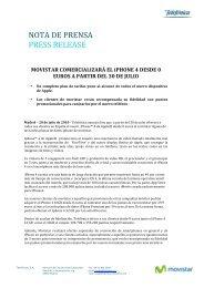 NOTA DE PRENSA PRESS RELEASE