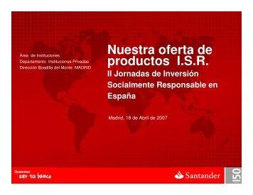 D.Alberto Sánchez Beltrán. Director de Instituciones ... - Santander