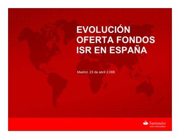 4 evolución oferta fondos isr en españa - Santander