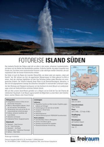 FOTOREISE ISLAND SÜDEN - Freiraum Fotografie