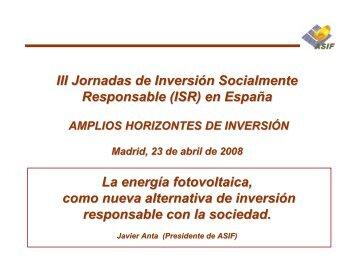 III Jornadas de Inversión Socialmente Responsable (ISR) - Santander