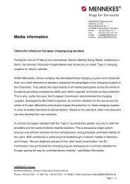 Chancellor briefed on European charging plug standard - Mennekes
