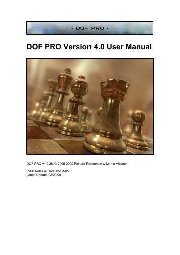 DOF PRO Version 4.0 User Manual - Richard Rosenman