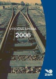 Výročná správa 2006 - ŽSR