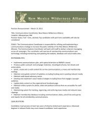 Download the application (PDF) - New Mexico Wilderness Alliance