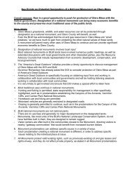 Key Points on Potential Designation of a National Monument on ...