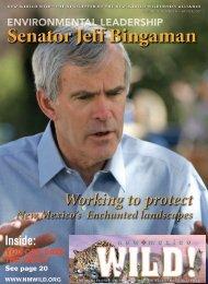 Senator Jeff Bingaman - New Mexico Wilderness Alliance