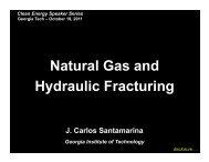 shale - Clean Energy Speakers Series - Georgia Institute of ...