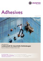 Adhesives & Sealants by Evonik - Evonik Industries