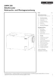 LWM 250 Abluftmodul Gebrauchs- und ... - Stiebel Eltron