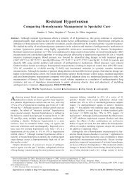 Resistant Hypertension Comparing Hemodynamic Management to ...