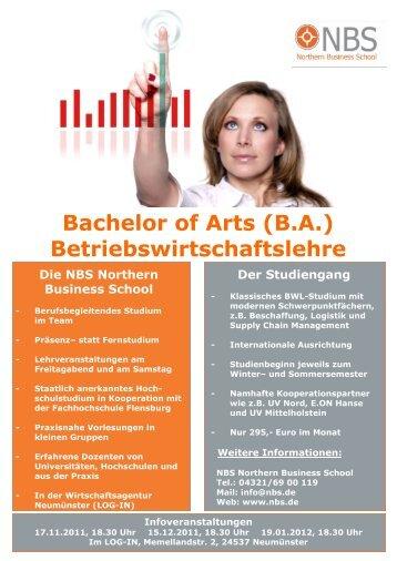 Bachelor of Arts (B.A.) Betriebswirtschaftslehre - LOG-IN