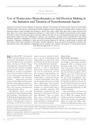 Use of Noninvasive Hemodynamics to Aid Decision Making in the ...