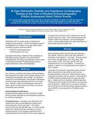 B-Type Natriuretic Peptide and Impedance Cardiography Testing at ...